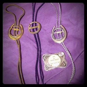 Western BOLO TIES, Parts, and Belt Buckle bundle